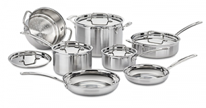 Cuisinart MCP-12N Multiclad Pro Stainless Cookware Set