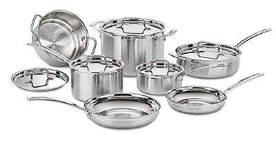 Cuisinart MCP-12N Multi-Clad Pro Stainless Cookware Set