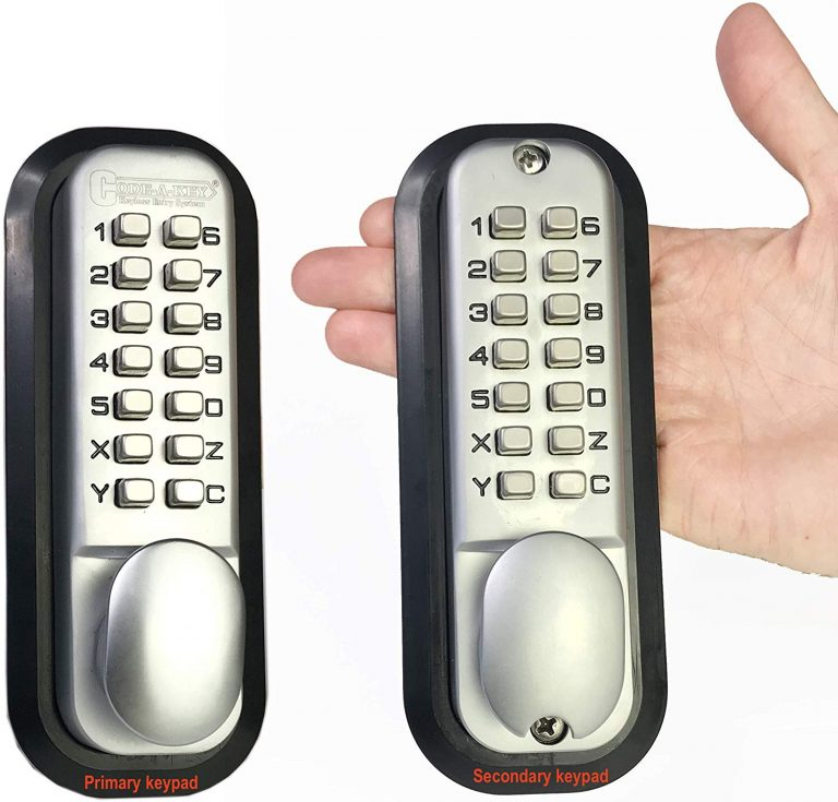 All-Weather Double Keypad Mechanical Keyless Latch Door Lock