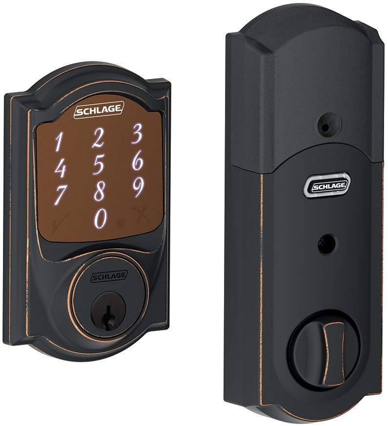Schlage Sense Smart Deadbolt Lock With Camelot Trim Garage door Locks